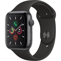Смарт-часы Apple Watch Series 5 44 мм серый космос, спортивный ремешок
