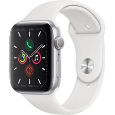 Смарт-часы Apple Watch Series 5 44 мм серебристый, спортивный ремешок