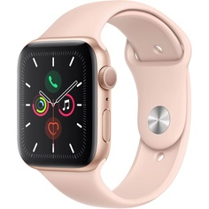Смарт-часы Apple Watch Series 5 44 мм розовый песок, спортивный ремешок