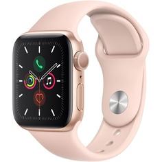 Смарт-часы Apple Watch Series 5 40 мм розовый песок, спортивный ремешок