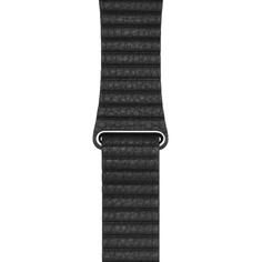 Ремешок для умных часов Apple Leather Loop 44 мм, черный (MXAA2ZM/A)