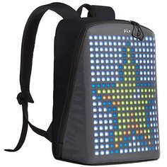 Рюкзак Pix Backpack с LED дисплеем (Power Bank в комплекте), черный