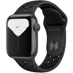 Смарт-часы Apple Watch Nike Series 5 44 мм серый космос, спортивный ремешок