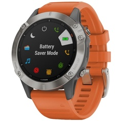 Смарт-часы Garmin FENIX 6 Sapphire Gray/Orange (010-02158-14)