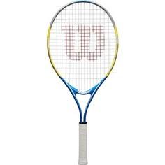 Ракетка для большого тенниса Wilson US OPEN 25, WRT20330U, для 9-10 лет, желто-сине-черный