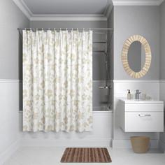 Штора для ванной IDDIS Basic 240x200, бело-бежевая (B40P224i11)