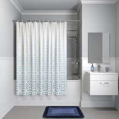 Штора для ванной IDDIS Basic 180x200, бело-синий (B22P218i11)