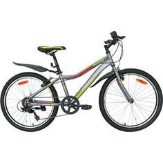 Велосипед Nameless 24 S4400, серый/желтый, 13 (2020) универс. рама
