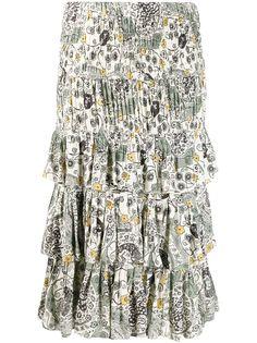 Isabel Marant Étoile юбка миди со сборками