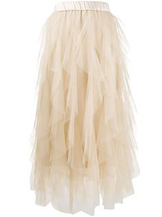 Peserico юбка с оборками из тюля