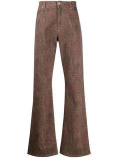 Etro джинсы с принтом пейсли