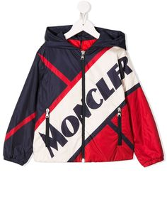 Moncler Kids куртка на молнии в стиле колор-блок