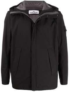 Stone Island куртка с капюшоном и нашивкой-логотипом