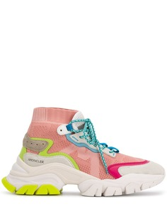 Moncler высокие кроссовки с сетчатыми вставками