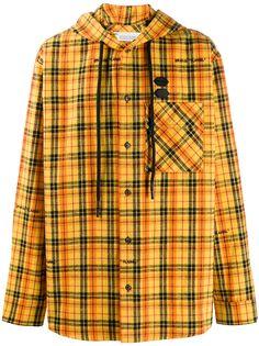 Off-White клетчатая куртка-рубашка с капюшоном