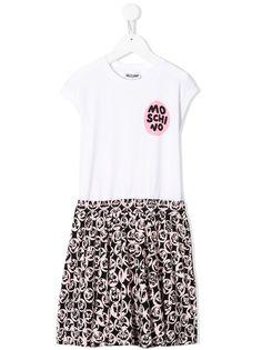 Moschino Kids платье-футболка с принтом