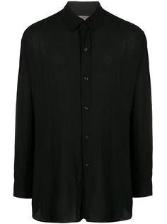 Yohji Yamamoto рубашка оверсайз с многослойным воротником