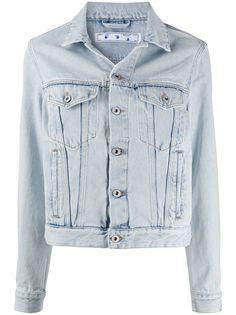 Off-White короткая джинсовая куртка