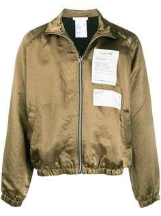 Helmut Lang куртка с высоким воротником и нашивками