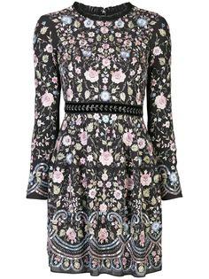 Needle & Thread платье с цветочной вышивкой
