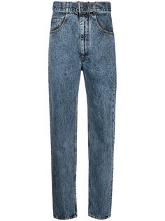 Maison Margiela джинсы с завышенной талией и поясом