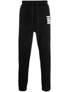 Burberry спортивные брюки с монограммой TB