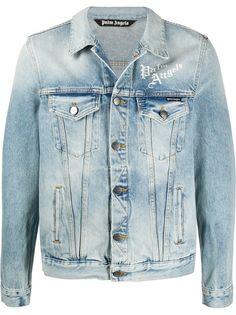 Palm Angels джинсовая куртка с принтом Sacred Heart