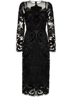 Dolce & Gabbana кружевное платье миди