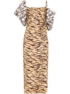 Rejina Pyo платье Amelia с открытыми плечами и принтом