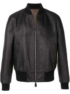 Roberto Cavalli фактурная куртка-бомбер