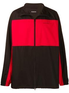 Balenciaga флисовая куртка оверсайз на молнии