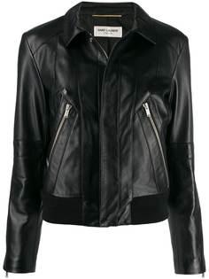 Saint Laurent байкерская куртка узкого кроя