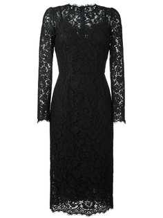 Dolce & Gabbana приталенное кружевное платье