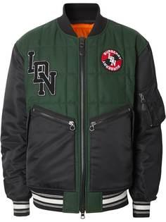 Burberry куртка-бомбер с логотипом