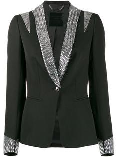 Philipp Plein пиджак-смокинг с кристаллами
