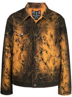 MJB Marc Jacques Burton джинсовая куртка Pax с принтом тай-дай