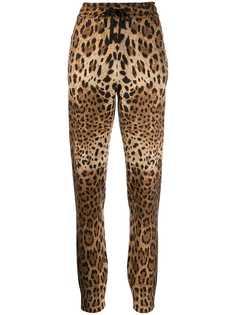 Dolce & Gabbana спортивные брюки с леопардовым принтом