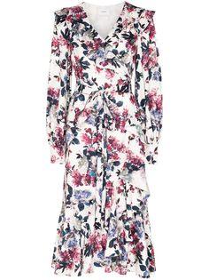 Erdem платье Jerridine с запахом и принтом