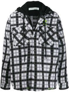 Off-White многослойная куртка-рубашка в клетку