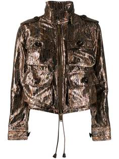 Dsquared2 куртка с эффектом металлик