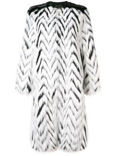 Givenchy длинная шуба из искусственного меха