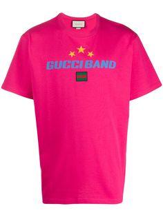 Gucci футболка с принтом Gucci Band