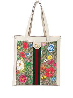 Gucci сумка-тоут Ophidia с логотипом GG и узором Flora