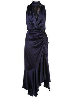 Jonathan Simkhai платье с кружевными вставками и сборками