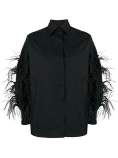 Valentino рубашка с перьями
