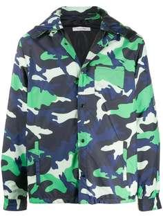 Valentino куртка с капюшоном и камуфляжным принтом