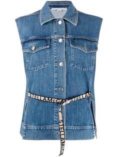 Stella McCartney джинсовая куртка без рукавов с логотипом
