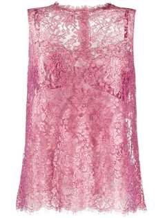 Dolce & Gabbana блузка из цветочного кружева