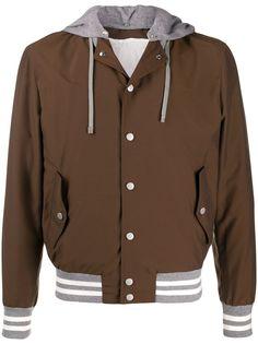 Eleventy многослойная куртка с капюшоном