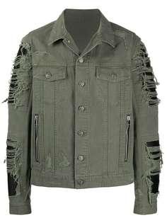Balmain джинсовая куртка с эффектом потертости